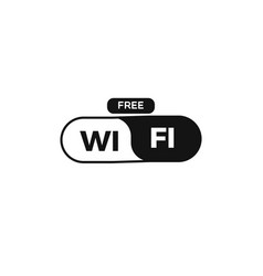 free wi fi zone sign vector image
