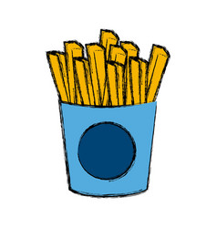 french fries food vector image