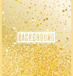 Gold glitter light vector