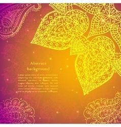 Golden ethnic indian background vector