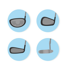 Golf clubs types vector