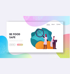Haccp standard and certification landing page vector