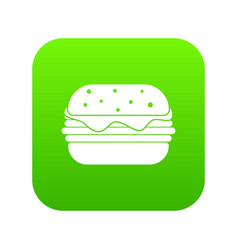 hamburger icon digital green vector image