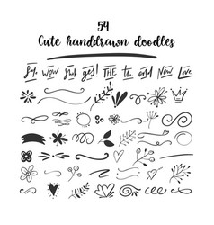 Handdrawn doodles vector