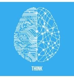 Human thinking concept vector