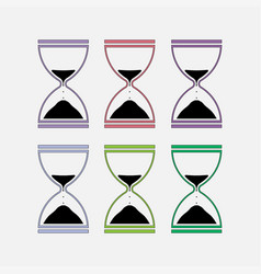 icons hourglass time measurement vector image