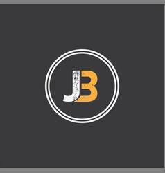 J b letter logo abstract design vector