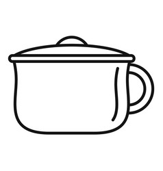 kid potty icon outline style vector image