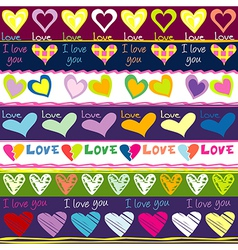 Lovely background with hearts vector