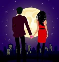 Lovely night vector