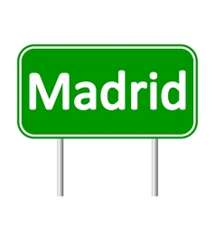 Madrid road sign vector