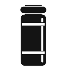 medical injection jar icon simple style vector image