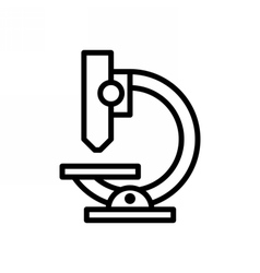 Microscope Outline Icon vector image