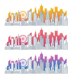 modern cityscape outline gradient vector image