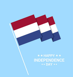 netherlands independence day typographic design vector image