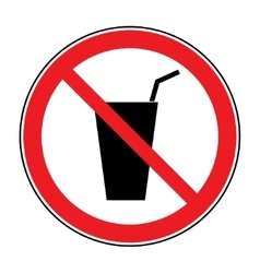 No drink sign vector