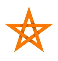 Orange star with shadow on intersections vector