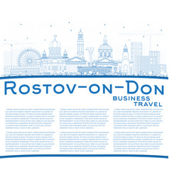 Outline rostov-on-don russia city skyline with vector