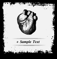 Paper art Human Heart vector