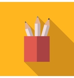 Pencil set in a glass vector image