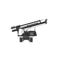 Pile driver icon vector
