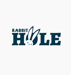 Rabbit hole logo vector