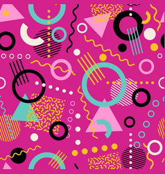 Retro seamless 1980s memphis pattern vector