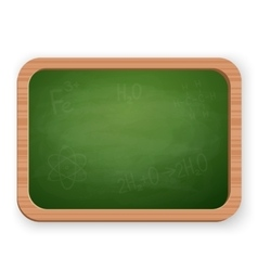 School blackboard isolated on white vector image