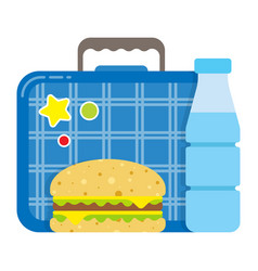 school lunch box icon kid set for a snack vector image