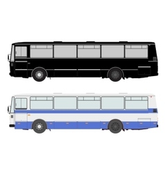 Set bus on a white background vector