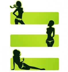 set girls vector image