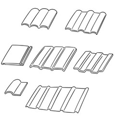 set of roof tile vector image