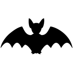 silhouette bat vector image
