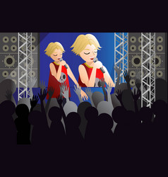 singer singing on a stage vector image