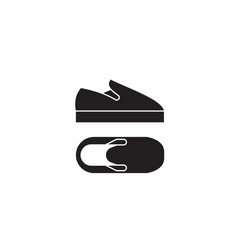 slip-on shoes black concept icon slip-on vector image