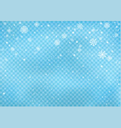 snowfall on blue transparent background vector image