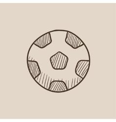Soccer ball sketch icon vector image