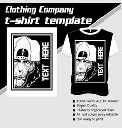 T-shirt template fully editable with ape vector
