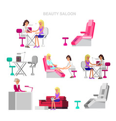 Template for beauty saloon template for beauty vector