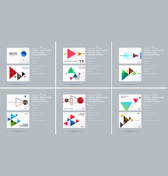 Triangular design presentation template with vector