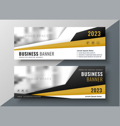 Two horizontal business web banners with space vector