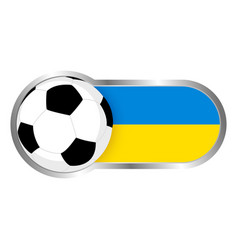 ukraine soccer icon vector image