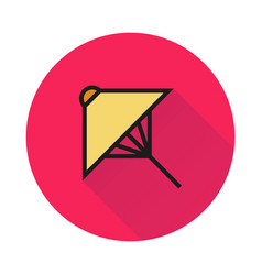umbrella icon on round background vector image