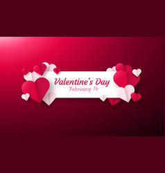 Valentines day background with paper origami vector