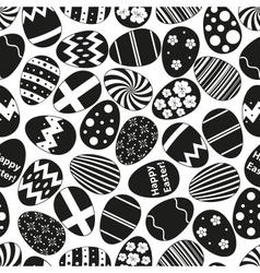 various black Easter eggs design seamless pattern vector image