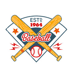 vintage emblem for baseball vector image