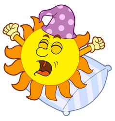 waking up sun vector image