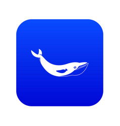 whale icon digital blue vector image