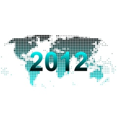 world map 2012 vector image