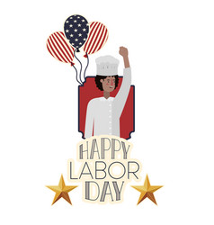 Young chef celebrating labor day avatar vector
